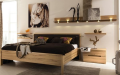 Красивая и недорогая спальня в минимализме для молодых
