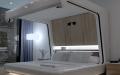 Дизайн современной кровати в космическом стиле