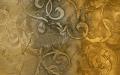 Фантазийный рисунок для стен, с использованием перламутра