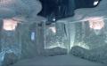 Натяжной потолок в дизайне соляной комнаты