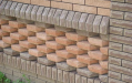 Вариант заполнения сигмента ограждения клинкерным тесанным кирпичем
