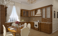 Дизайн кухни в частном коттедже