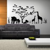 Африканские мотивы в отделке стен гостиной