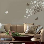 Бабочки на стенах в гостиной: три цвета, море вкуса!