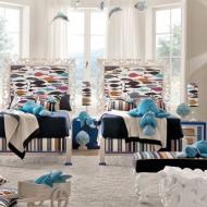 Детская комната для двоих детей: морская фауна в