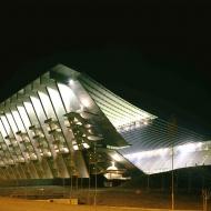 Футбольный стадион в городе Брага (Португалия), ночное освещение