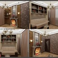 Гостевая комната с камином