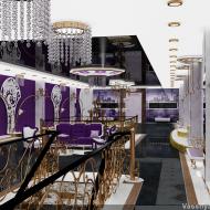 Интерьер 2го этажа: белые стеновые стеганные панели