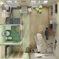 Маленькая квартира: вид сверху