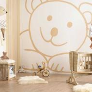 Бежевая детская с деревянной мебелью