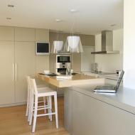 Кухня-студия: стол переходит в удобную столешницу