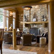 Дизайн интерьера дома из сруба