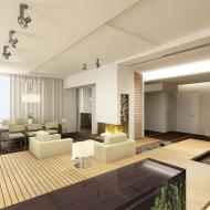 Великолепный вариант разбивки квартиры на разные высоты