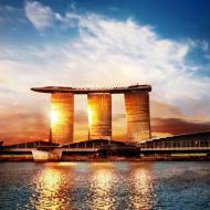 Отель в Сингапуре Marinа Bay Sands на закате