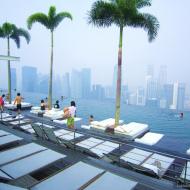 Отель в Сингапуре Marinа Bay Sands - бассейн для отдыхающих