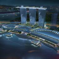 Отель в Сингапуре Marinа Bay Sands - потрясающий вид сверху!
