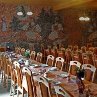 Отделка помещения ресторана соляными панелями