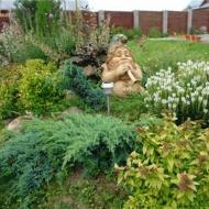 Садовые скульптуры в организации альпийских горок