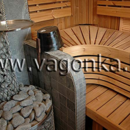 Финская сауна: парная комната из ольхи