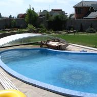 Бассейн с автоматической раздвижной крышей