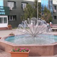 Декоративный фонтан в виде полушария