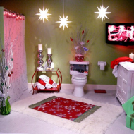 Праздничный декор ванной комнаты