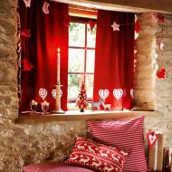 Декор штор на новогодние праздники