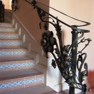 Кованые перила на лестницы
