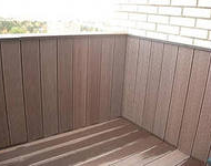 Террасная доска Darvolex на балконе