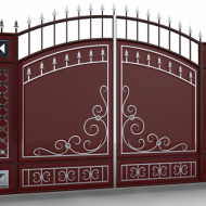 Кованные ворота № 2