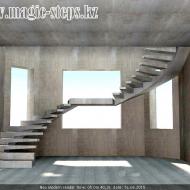 Лестница монолитная в черновом варианте. 3d визуализация рабочего проекта