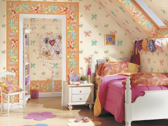"""Дизайн детской комнаты для девочки """"Бабочки""""- воплощаем фото в реальность!"""