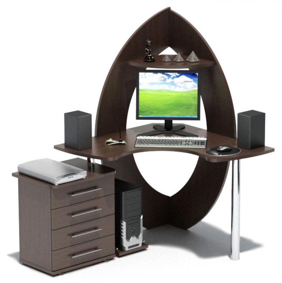 """Компьютерный стол """"кст-101 + кт-102"""" с-мебель."""
