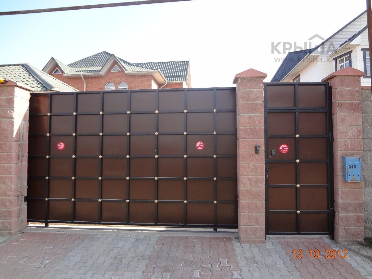 Железные ворота для дома на роликах с кали купить железные ворота тверь