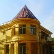 Отделка фасада загородного дома цены
