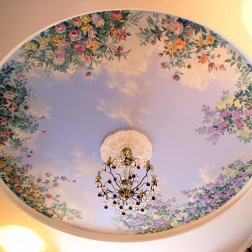 Картинки потолок роспись
