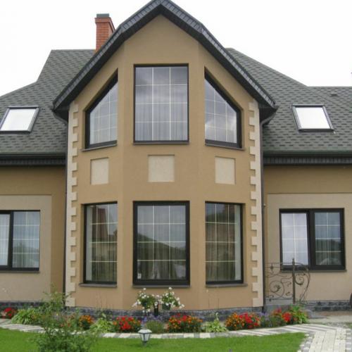 Материалы для отделки фасада дома из пеноблоков