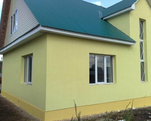 Окраска фасада с земли расценка