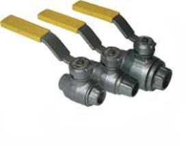 Кран шаровой газовый стальной КШ-100 (2.5 МПа)