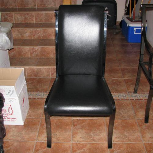Как обшить стулья кожей