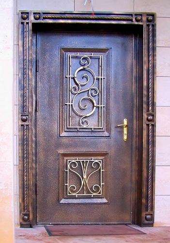 металлическая дверь ковка не сплошная
