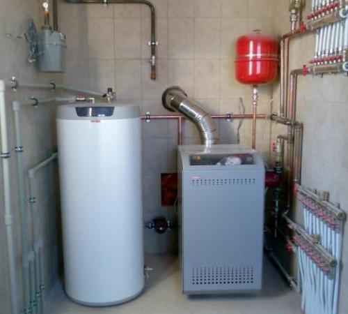 Газовый котел для отопления частного дома монтаж своими руками 92