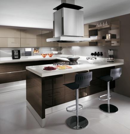 Красивая кухня в духе минимализма не