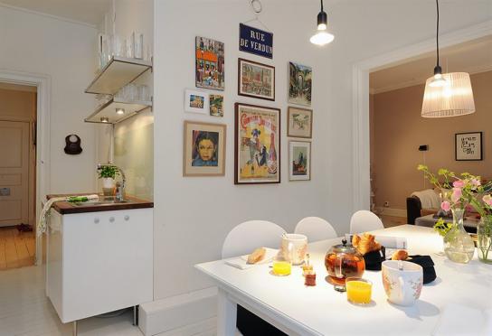 Дизайн кухни-столовой в современной квартире