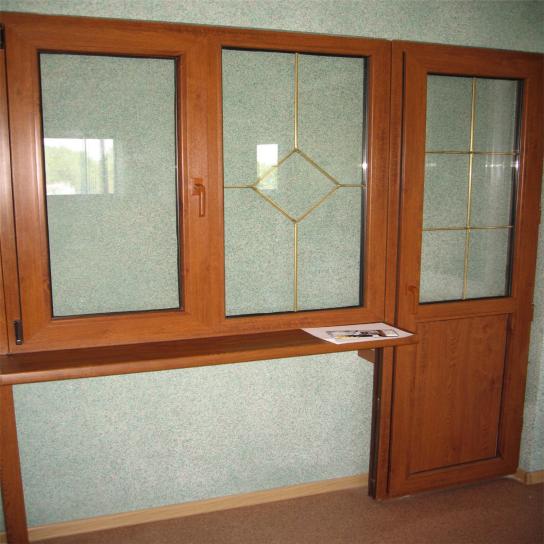Окна золотой дуб фото