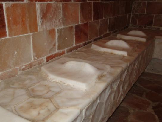 Фото.Соляная комната: отделка стен соляными плитами - Фото