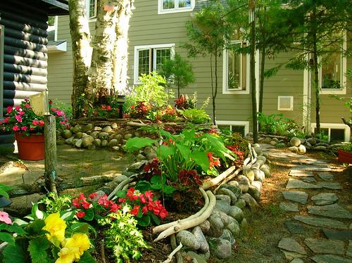 Дизайн садовых клумб фото