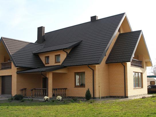 Кирпич облицовочный фото домов