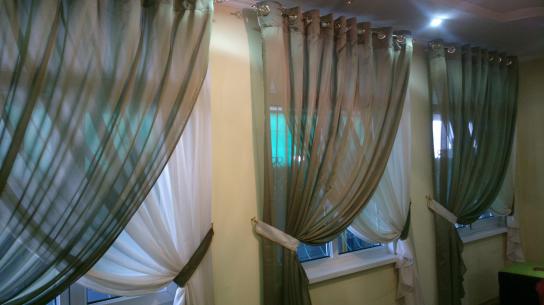 Как сделать прозрачные шторы 538